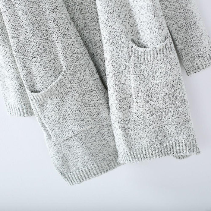 Autumn Winter Women Long Sleeve Loose Knitting Cardigan Sweater Womens Knitted Female-Sweaters-MyMei Fashion Boutique-S-EpicWorldStore.com
