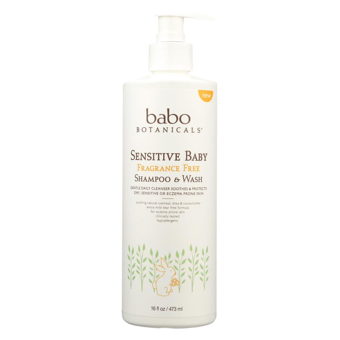 Babo Botanicals - Body Wash - Fragrance Free - Case Of 16 - 16 Fl Oz.-Eco-Friendly Home & Grocery-Babo Botanicals-EpicWorldStore.com