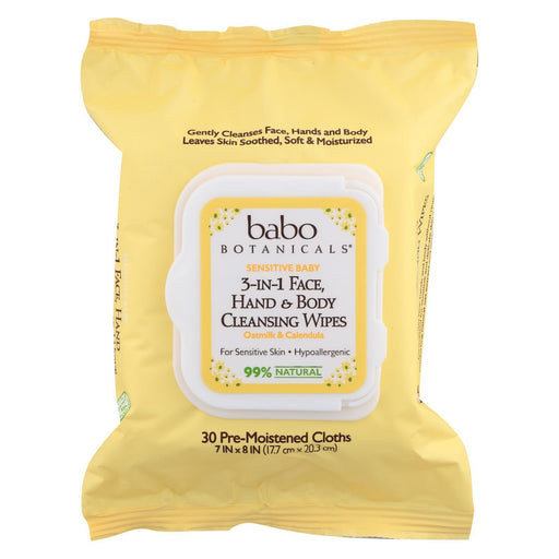 Babo Botanicals - Hand And Body Cleansing Wipes - Oatmilk And Calendula - Case Of 4 - 30 Count-Eco-Friendly Home & Grocery-Babo Botanicals-EpicWorldStore.com