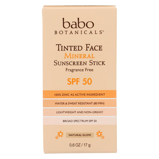 Babo Botanicals - Tinted Face Mineral Sunscreen Stick - Spf 50 - Case Of 6 - 0.6 Oz.-Eco-Friendly Home & Grocery-Babo Botanicals-EpicWorldStore.com