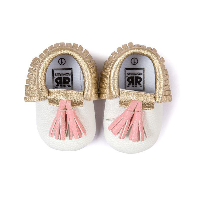 8cddd130b81 Baby Moccasins Shoes Baby Soft Pu Leather Tassel Girls Bow Moccs ...