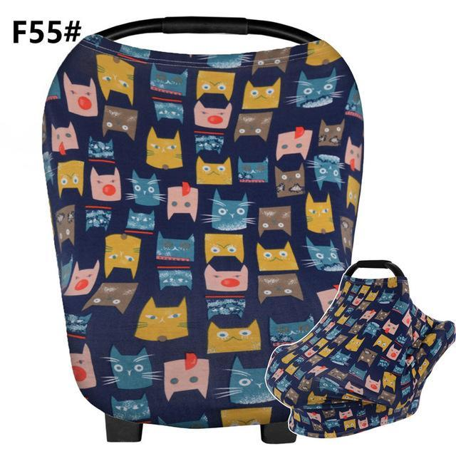 Baby Nursing Cover For Boys Girls Breathable Stretchy Car Seat Canopy Ideal