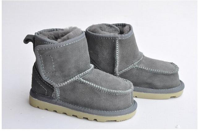 39d5f212c08 Baby Snow Boots For Boys And Girls Kids Snow Boots Sheepskin Real Fur Shoes  Children Geanuine