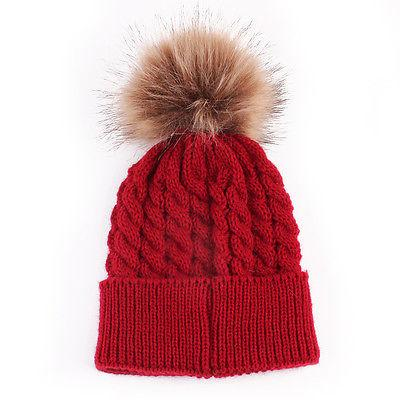c49445643 Baby Toddler Kids Boys Girls Knitted Caps Cute Hats Crochet Winter Warm Hat  Cap 5 Colors