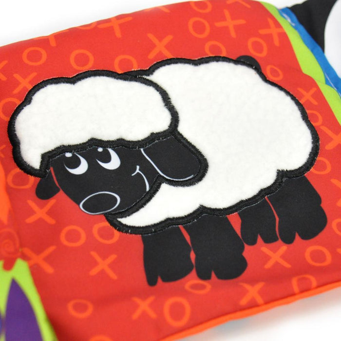 Jollybaby Baby Crib Bumper Cloth Book Infant Rattle with Animal Model