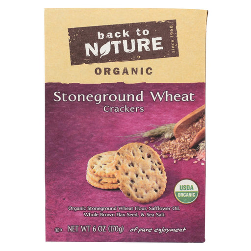 Back To Nature Crackers - Organic Stoneground Wheat - Case Of 6 - 6 Oz.-Eco-Friendly Home & Grocery-Back To Nature-EpicWorldStore.com