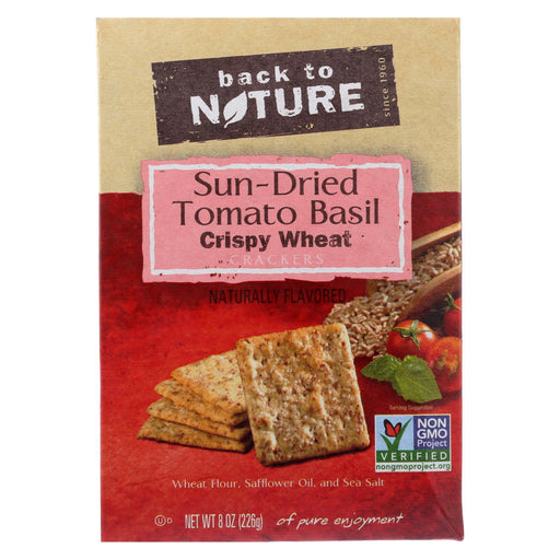 Back To Nature Crackers - Sundried Tomato Basil Crispy Wheat - Case Of 6 - 8 Oz.-Eco-Friendly Home & Grocery-Back To Nature-EpicWorldStore.com