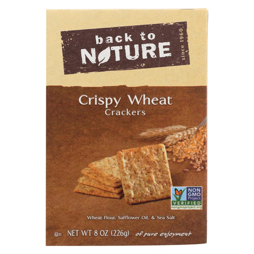 Back To Nature Crispy Crackers - Wheat - Case Of 6 - 8 Oz.-Eco-Friendly Home & Grocery-Back To Nature-EpicWorldStore.com