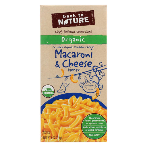 Back To Nature Organic Macaroni And Cheddar Cheese Dinner - Case Of 12 - 6 Oz.-Eco-Friendly Home & Grocery-Back To Nature-EpicWorldStore.com