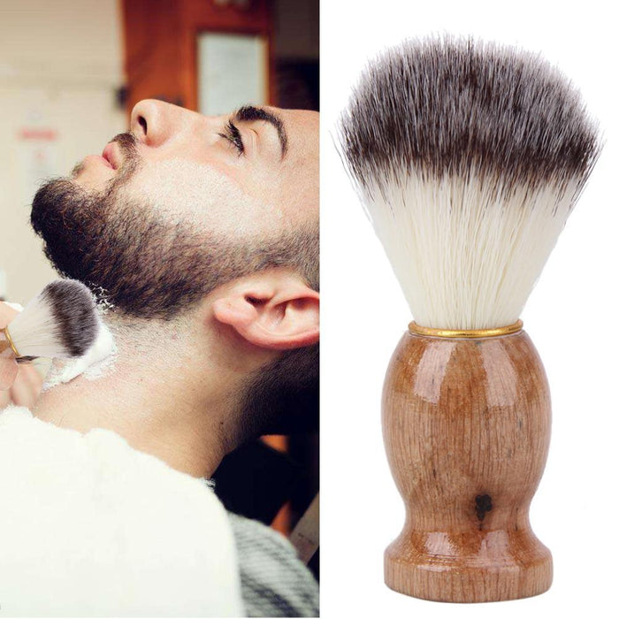 Badger Hair Mens Shaving Brush Barber Salon Men Facial Beard Cleaning Appliance Shave Tool Razor-Shaving & Hair Removal-iFashion Beauty-EpicWorldStore.com
