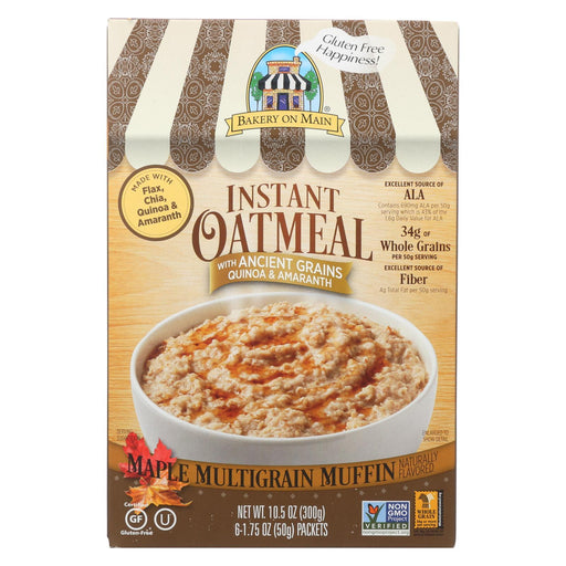 Bakery On Main Instant Oatmeal - Maple Flavor - Case Of 6 - 10.5 Oz.-Eco-Friendly Home & Grocery-Bakery On Main-EpicWorldStore.com
