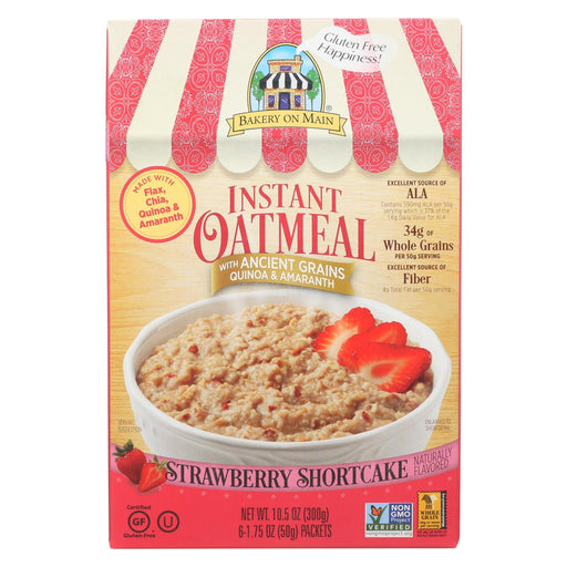 Bakery On Main Instant Oatmeal Shortcake - Strawberry - Case Of 6 - 10.5 Oz.-Eco-Friendly Home & Grocery-Bakery On Main-EpicWorldStore.com