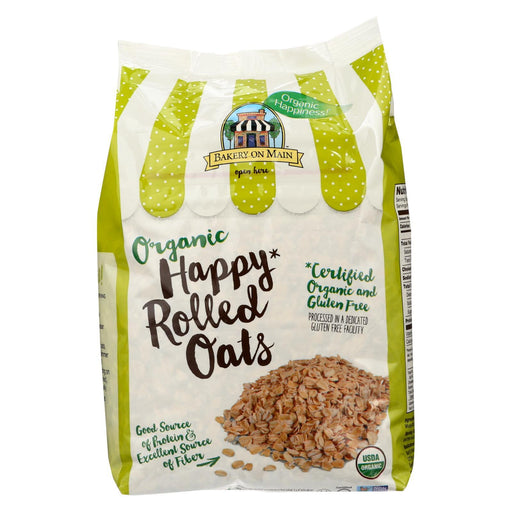 Bakery On Main Organic Happy Rolled Oats - Gluten Free - Case Of 4 - 24 Oz-Eco-Friendly Home & Grocery-Bakery On Main-EpicWorldStore.com