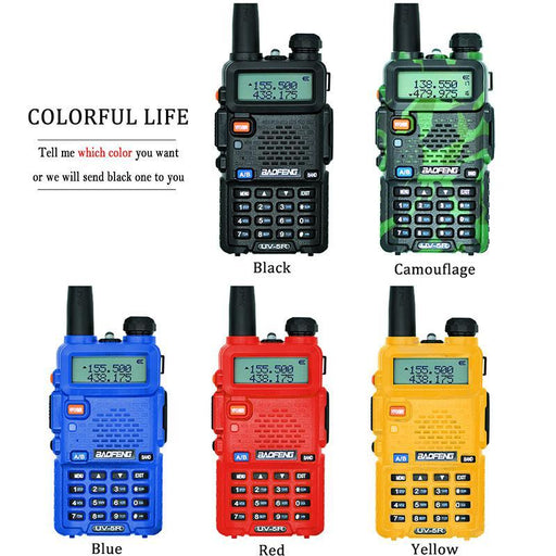 Baofeng Uv-5R Walkie Talkie Professional Cb Radio Baofeng Uv5R Transceiver 128Ch 5W Vhf&Uhf Handheld-Communication Equipments-baofengradio Store-Camouflage-EpicWorldStore.com