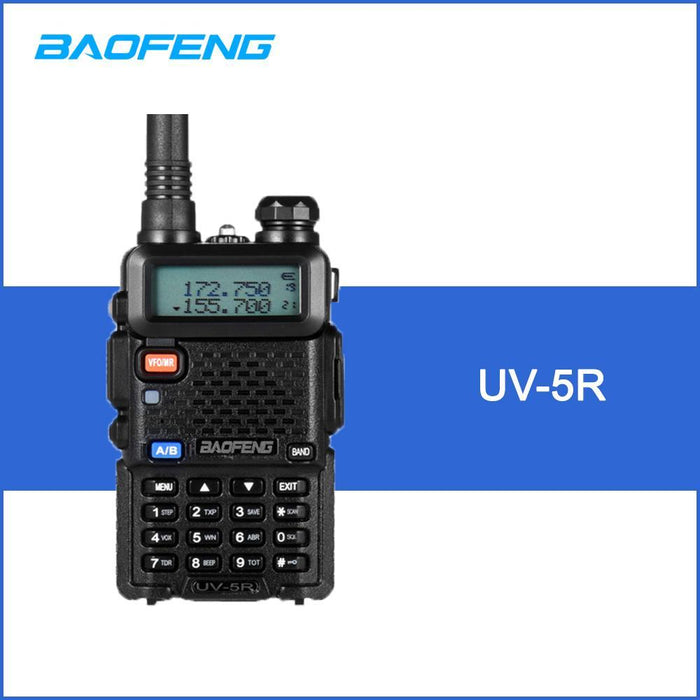 Baofeng Uv-5R Walkie Talkie Two Way Radio Fm Transceiver Interphone  Dual-Band Dtmf Encoded Vox Alarm