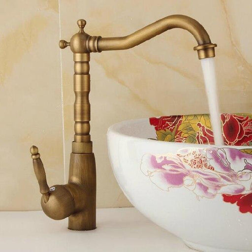 Basin Sink Faucet Water Mixer Water Tap Toneir Bath Faucet Brass Bathroom Mixer Tap Wash Basin Mixer-Basin Faucets-WANFAN Official Store-Antique 6718F-EpicWorldStore.com