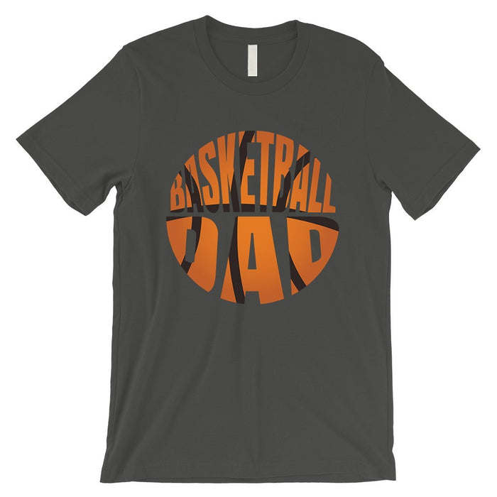 Basketball Dad Mens Super Supportive Sport Shirt Gift For Fathers-Apparel & Accessories-365 Printing-Cool Grey-XXX-Large-EpicWorldStore.com