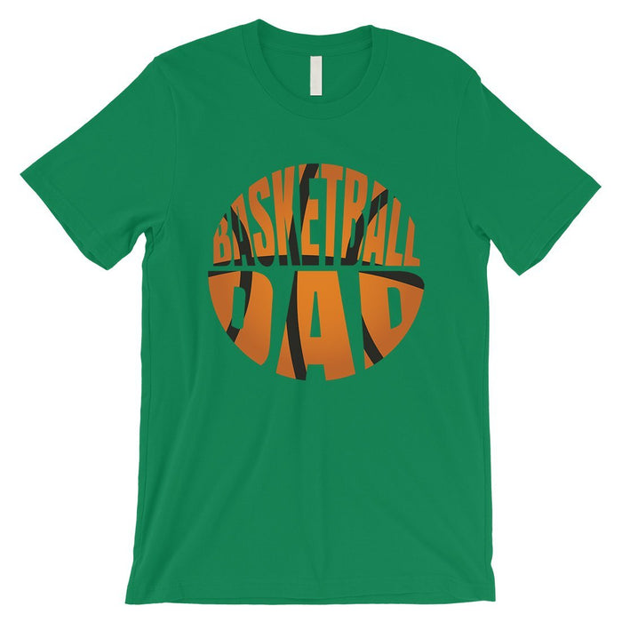 Basketball Dad Mens Super Supportive Sport Shirt Gift For Fathers-Apparel & Accessories-365 Printing-Green-Medium-EpicWorldStore.com