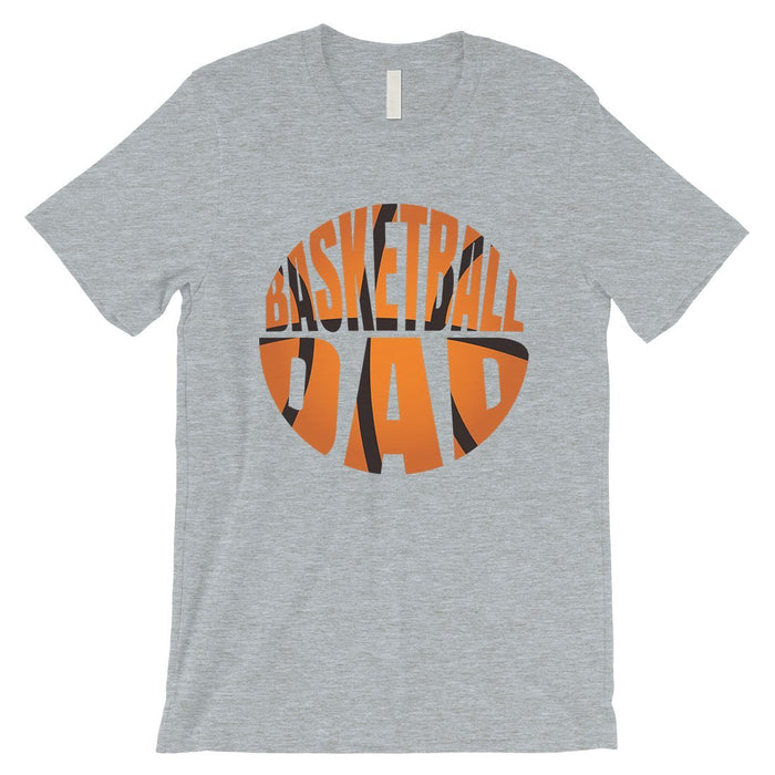 Basketball Dad Mens Super Supportive Sport Shirt Gift For Fathers-Apparel & Accessories-365 Printing-Heather Grey-XXX-Large-EpicWorldStore.com