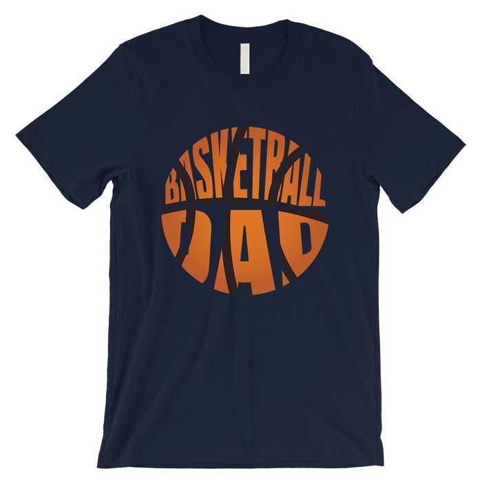 Basketball Dad Mens Super Supportive Sport Shirt Gift For Fathers-Apparel & Accessories-365 Printing-Navy-X-Large-EpicWorldStore.com
