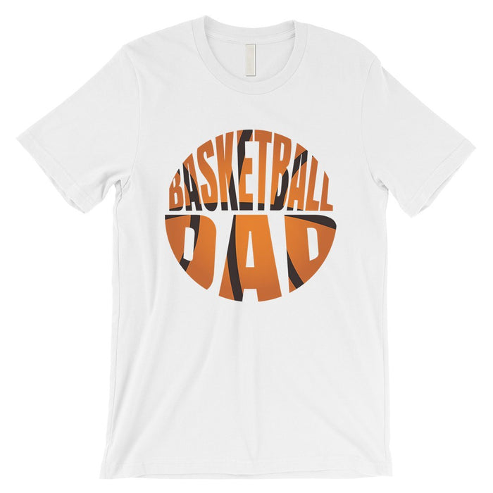 Basketball Dad Mens Super Supportive Sport Shirt Gift For Fathers-Apparel & Accessories-365 Printing-White-XX-Large-EpicWorldStore.com