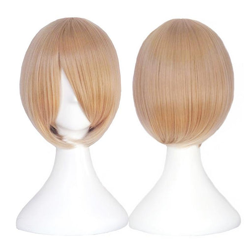 Bchr Short Blonde Cosplay Wig 6 Inch Straight Synthetic Wigs For Women And Men 24 Color Brown Blue-BCHR Store-4020-EpicWorldStore.com