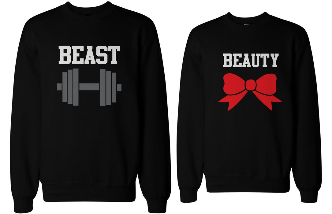 8ec8ec03c3 Beauty And Beast Couple Sweatshirts Cute Matching Outfit For Couples-Apparel  & Accessories-365