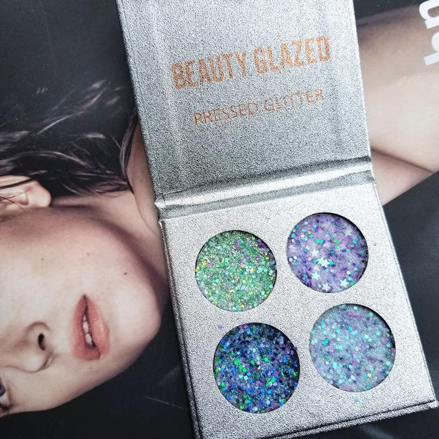 Beauty Glazed Makeup Queen Eyeshadow And Cheek Palette Glitter Diamond Pigment Glitter Shimmer-Beauty Essentials-kisslover Store-4COLOR-EpicWorldStore.com