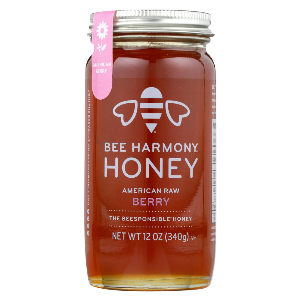 Bee Harmony - Honey - American Raw Berry - Case Of 6-12 Oz.-Eco-Friendly Home & Grocery-Bee Harmony-EpicWorldStore.com