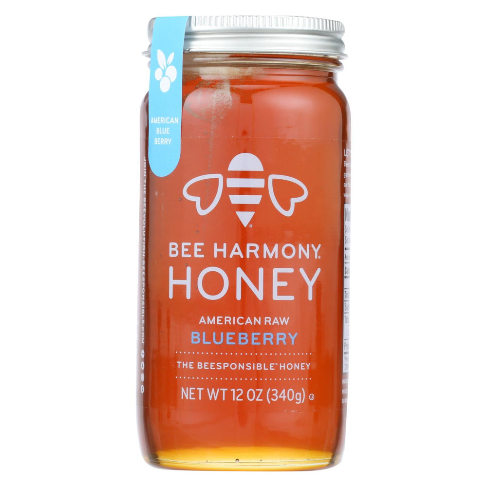Bee Harmony - Honey - American Raw Blueberry - Case Of 6-12 Oz.-Eco-Friendly Home & Grocery-Bee Harmony-EpicWorldStore.com