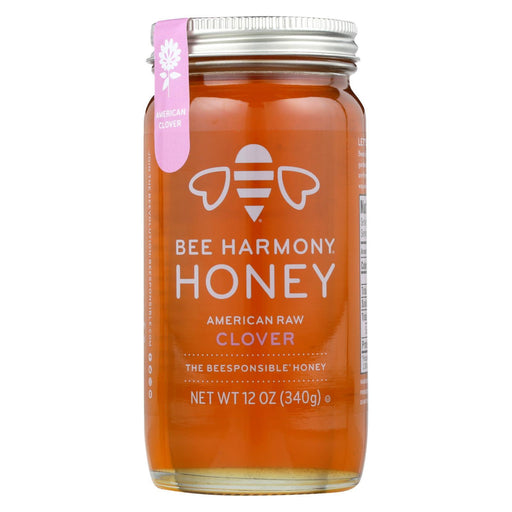 Bee Harmony - Honey - American Raw Clover - Case Of 6-12 Oz.-Eco-Friendly Home & Grocery-Bee Harmony-EpicWorldStore.com