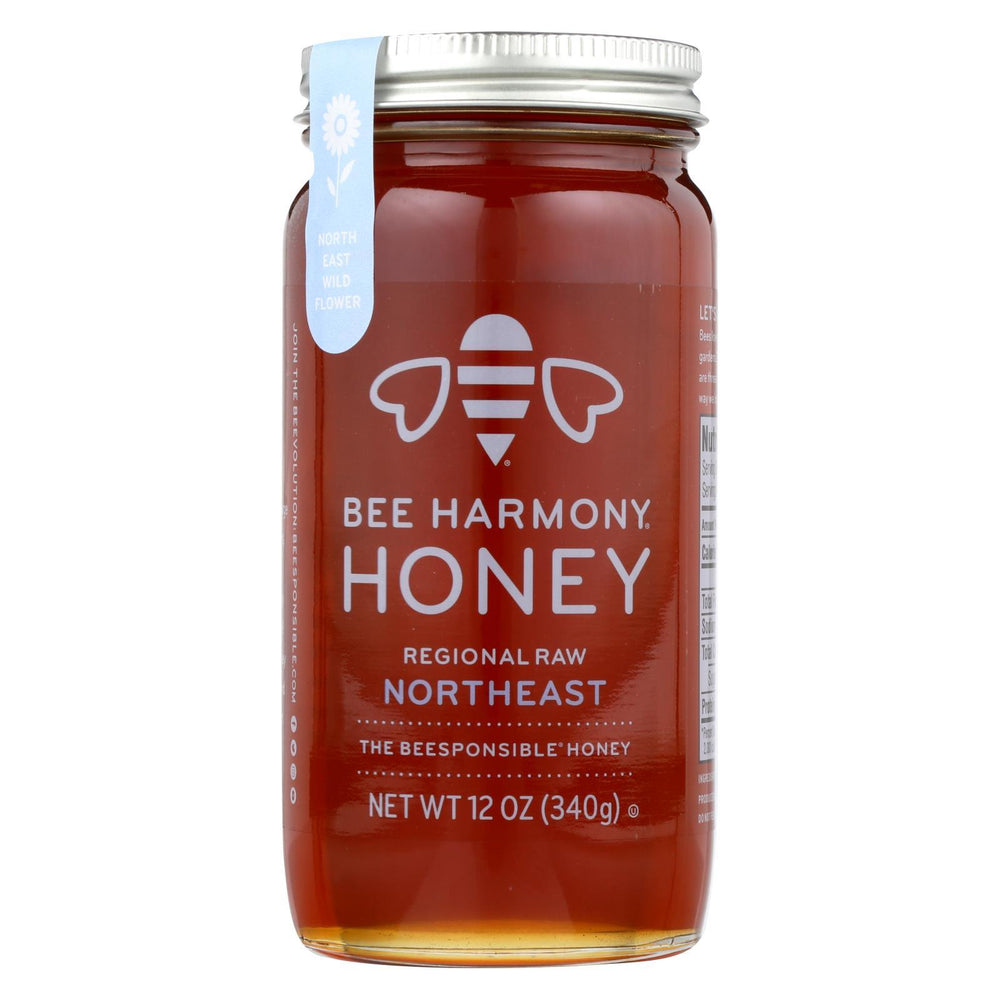 Bee Harmony - Honey - Regional Raw Northeast - Case Of 6-12 Oz.-Eco-Friendly Home & Grocery-Bee Harmony-EpicWorldStore.com