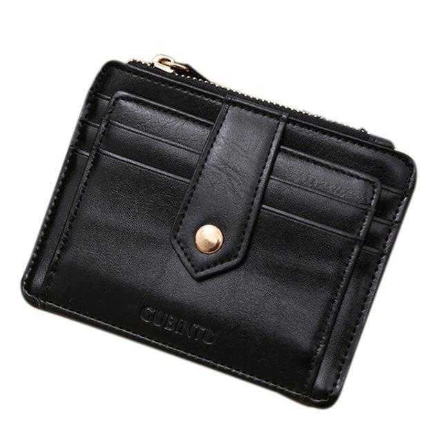 best selling multiple card holder clutch standard wallet mini leather zipper credit card miya lins - Best Card Holder Wallet