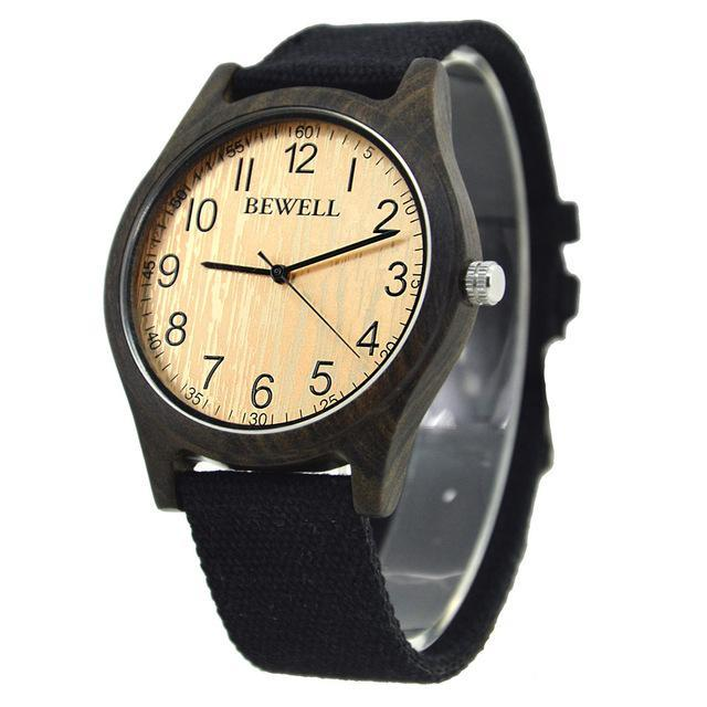 Bewell Bamboo Wood Watch Luxury Brand Analog Digital Quartz Watch Men Women Watch Dropshipping-Lover's Watches-BEWELL Official Store-black 1-EpicWorldStore.com