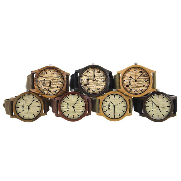 Bewell Bamboo Wood Watch Luxury Brand Analog Digital Quartz Watch Men Women Watch Dropshipping-Lover's Watches-BEWELL Official Store-brown-EpicWorldStore.com