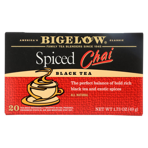 Bigelow Tea Black Tea - Spiced Chai - Case Of 6 - 20 Bag-Eco-Friendly Home & Grocery-Bigelow Tea-EpicWorldStore.com