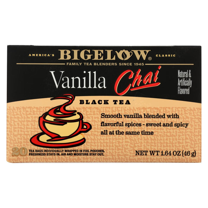 Bigelow Tea Tea - Chai Vanilla - Case Of 6 - 20 Bag-Eco-Friendly Home & Grocery-Bigelow Tea-EpicWorldStore.com