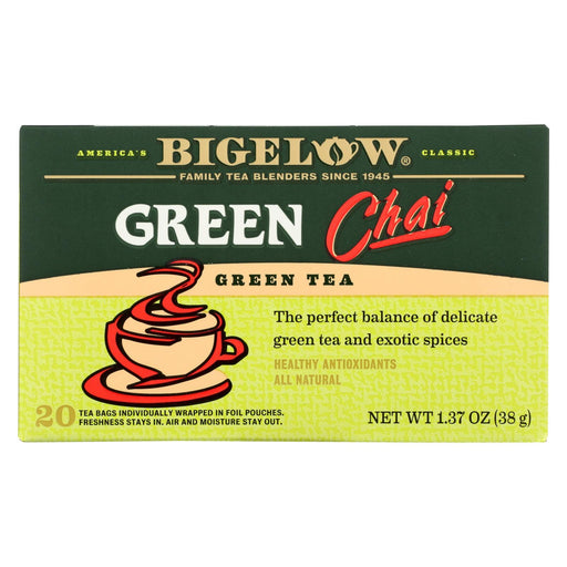 Bigelow Tea Tea - Green - Chai - Case Of 6 - 20 Bag-Eco-Friendly Home & Grocery-Bigelow Tea-EpicWorldStore.com
