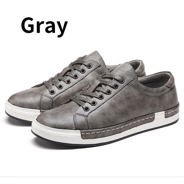 Bimuduiyu Autumn New Casual Shoes Mens Leather Flats Lace-Up Shoes Simple  Stylish Male Shoes 532df4f92
