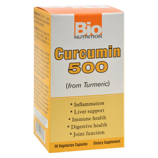 Bio Nutrition - Curcumin 500 - 50 Vegetarian Capsules-Eco-Friendly Home & Grocery-Bio Nutrition-EpicWorldStore.com