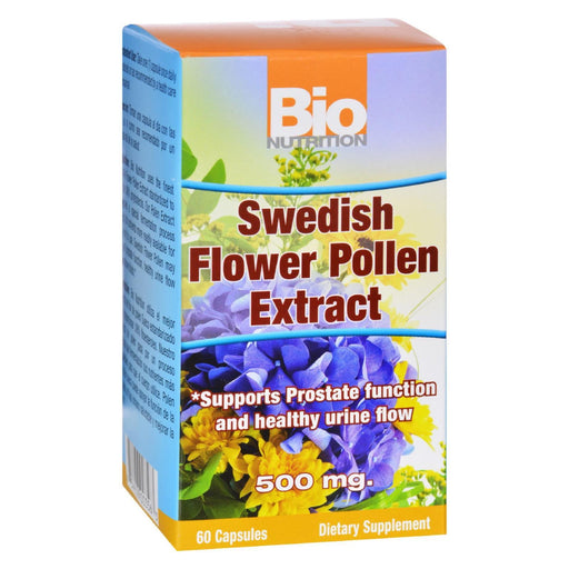 Bio Nutrition - Inc Swedish Flower Pollen Extract - 500 Mg - 60 Veg Capsules-Eco-Friendly Home & Grocery-Bio Nutrition-EpicWorldStore.com