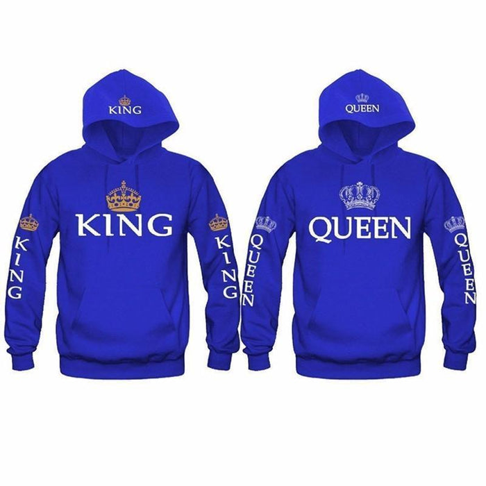 Bkld Autumn 3Colors King Queen Printed Hoodies Women Men Sweatshirt Lovers Couples Hoodie-Hoodies & Sweatshirts-OMSJ Store-Black king-S-EpicWorldStore.com