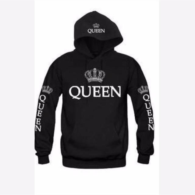 Bkld Autumn 3Colors King Queen Printed Hoodies Women Men Sweatshirt Lovers Couples Hoodie-Hoodies & Sweatshirts-OMSJ Store-Black queen-S-EpicWorldStore.com