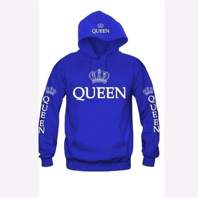Bkld Autumn 3Colors King Queen Printed Hoodies Women Men Sweatshirt Lovers Couples Hoodie-Hoodies & Sweatshirts-OMSJ Store-blue queen-S-EpicWorldStore.com