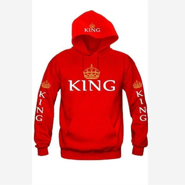 Bkld Autumn 3Colors King Queen Printed Hoodies Women Men Sweatshirt Lovers Couples Hoodie-Hoodies & Sweatshirts-OMSJ Store-red king-S-EpicWorldStore.com