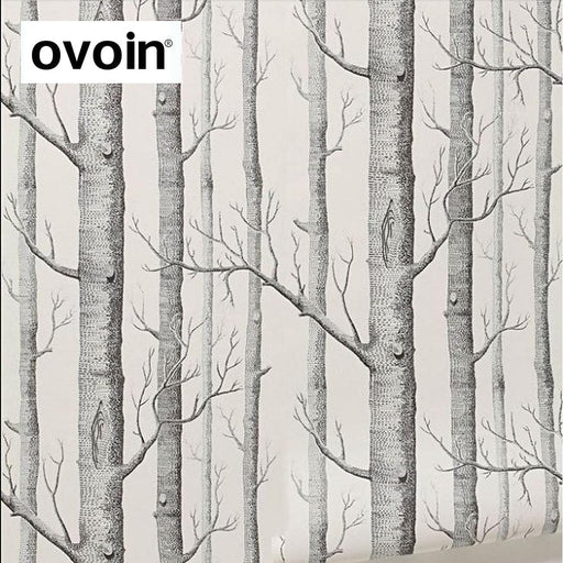 Black White Birch Tree Wallpaper For Bedroom Modern Design Living Room Wall Paper Roll Rustic Forest-ovoin Official Store-EpicWorldStore.com