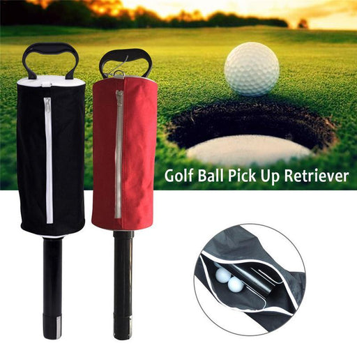 Black Zipper Golf Ball Pick Up Retriever Shag Bag Hold Up To 70 Balls Easy To Pick Up The Ball-Golf Training Aids-KaiMan Outdoor Store-Red-EpicWorldStore.com