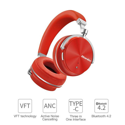 Bluedio T4S Active Noise Cancelling Wireless Bluetooth Headphones Wireless Headset With Microphone-Portable Audio & Video-Bluedio official store-Red-EpicWorldStore.com