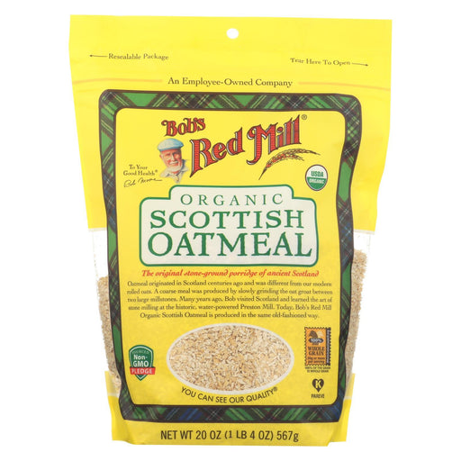 Bob'S Red Mill - Oatmeal - Organic Scottish - Case Of 4 - 20 Oz.-Eco-Friendly Home & Grocery-Bob's Red Mill-EpicWorldStore.com