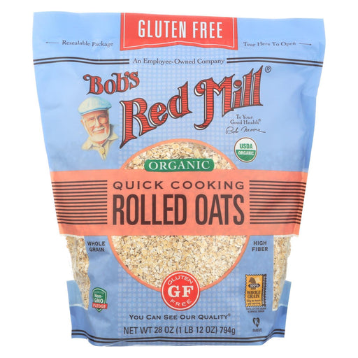 Bob'S Red Mill - Organic Quick Cooking Rolled Oats - Gluten Free - Case Of 4-28 Oz-Eco-Friendly Home & Grocery-Bob's Red Mill-EpicWorldStore.com